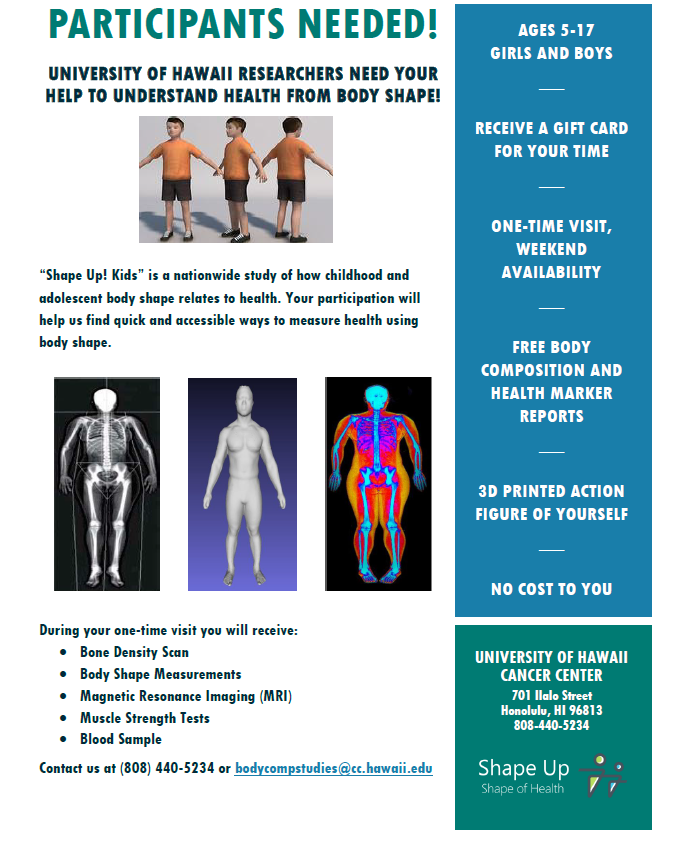 For Participants – Shape Up! Studies